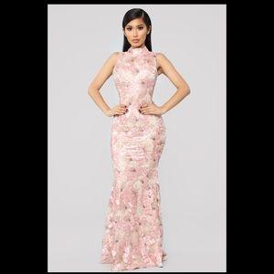 Fashion Nova- The Way You Look At Me Dress Mauve